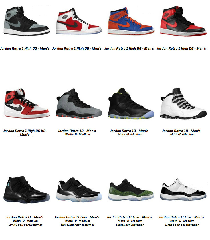 Nike Air Jordan Retro Restock today?