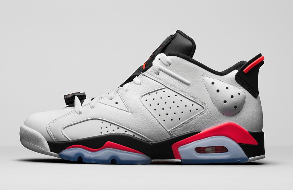 Jordan 6 Retro Low 'White Infrared'
